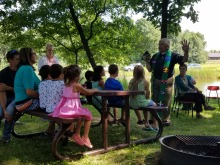 Children's puppet sermon