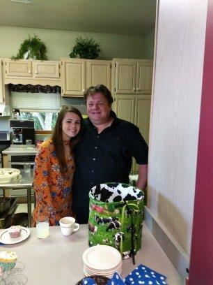 Madison Harris with her dad, Jess Harris